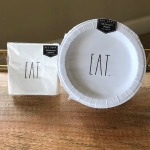 Rae Dunn NWT Paper plates and napkins EAT